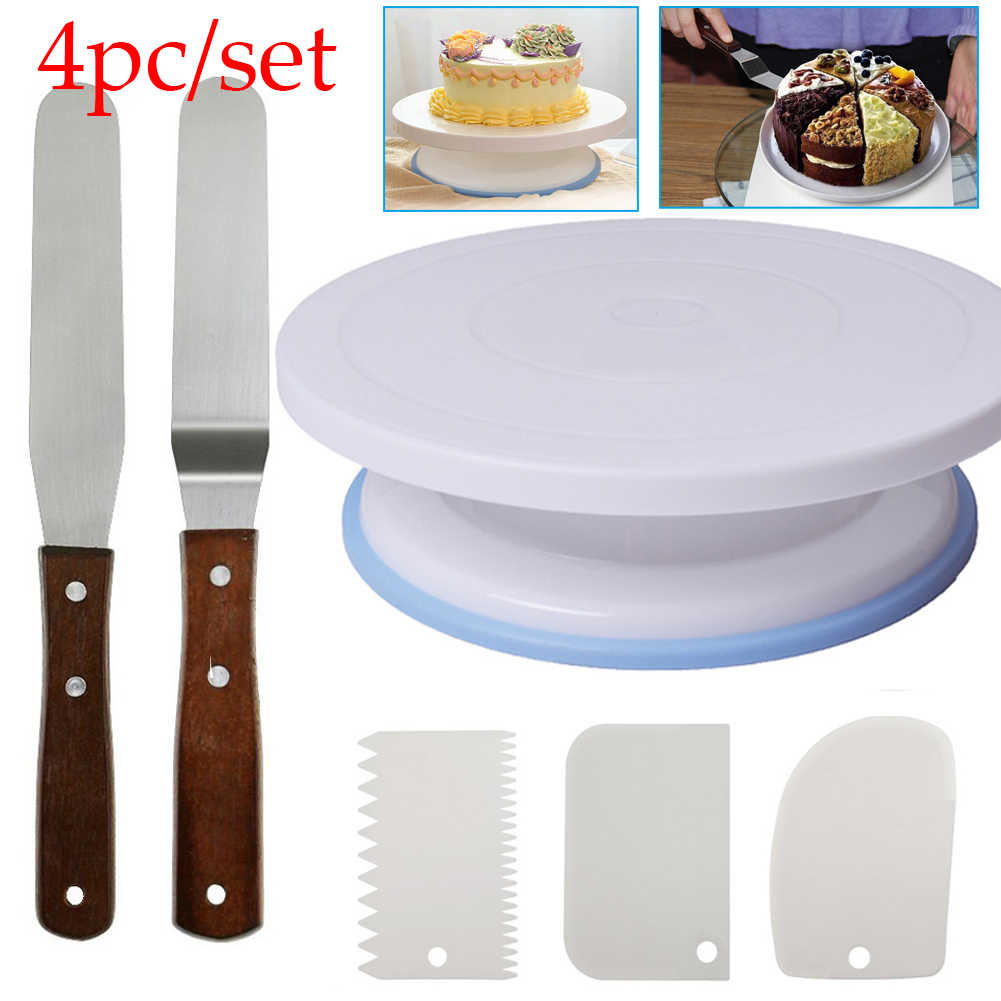 Plastic Cake Turntable Rotating Cake Plastic Dough Knife Decorating 10 Inch Cream Cakes Stand Cake Rotary Table Hot Sal