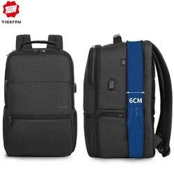 Mochila expandible Tigernu para hombre, para portátil/ordenador de 15,6-19 pulgadas, mochila de viaje para hombre, bolsas de gran capacidad, moda masculina