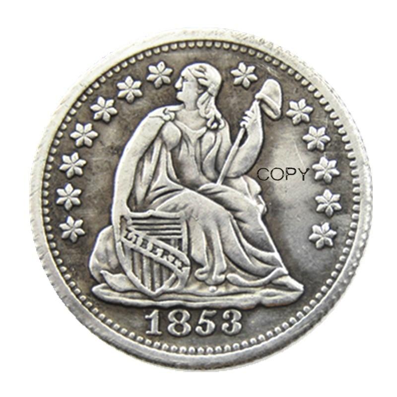 USA 1853P/O Liberty Seated Half Dime No Arrows (Regular Strike) Copy Coins