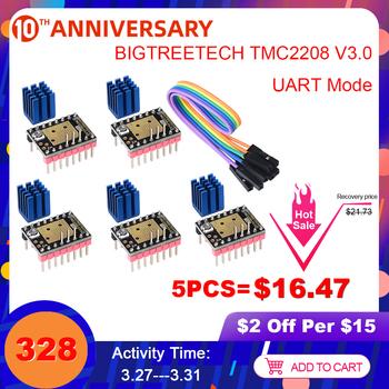 BIGTREETECH TMC2208 V3 0 sterownik silnika krokowego UART VS TMC2209 TMC2130 dla SKR V1 3 SKR V1 4 Turbo rampy 1 4 części drukarki 3D tanie i dobre opinie BIQU Driver BIGTREETECH TMC2208 V3 0 Stepper Motor Driver STEP DIR mode UART mode Up to 1 256 3 3V V 5V 12V V 24V DC 1 2a k (peak)