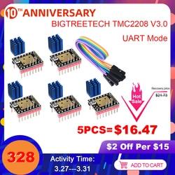 BIGTREETECH TMC2208 V3.0 sterownik silnika krokowego UART VS TMC2209 TMC2130 dla SKR V1.3 SKR V1.4 Turbo rampy 1.4 części drukarki 3D w Części i akcesoria do drukarek 3D od Komputer i biuro na