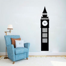 Cartoon Big Ben Poster For Baby Room Vinyl Wall Sticker Wallpaper Wall Decal Art Vinyl Mural Bedroom Sticker Decoration