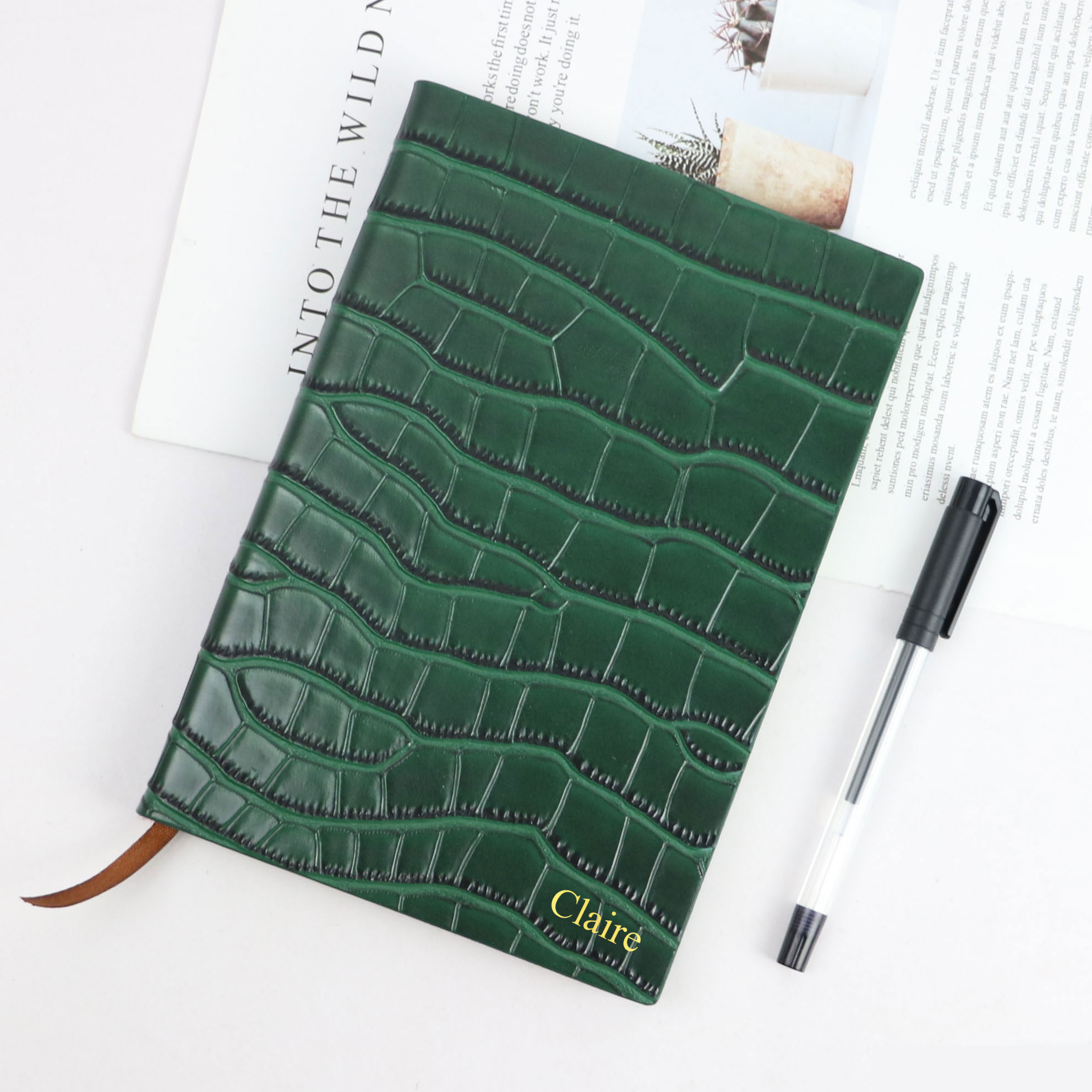 New Style A5 Notebook PU Leather Travel Hardcover Notebook Creative Stationery Crocodile Pattern Business A5 Notebook Diary