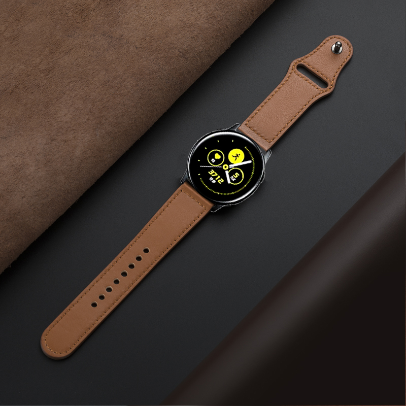 22mm/20mm Active 2 40mm 44mm Strap For Samsung Galaxy Watch 46mm 42mm Gear S3 Frontier Huawei Watch Gt Band Genuine Leather Belt