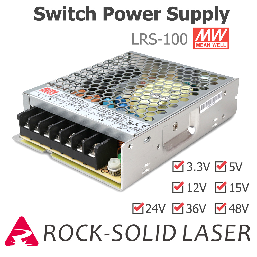 Switching Power Supply <font><b>100W</b></font> Switch Power Supply <font><b>Meanwell</b></font> LRS-100 3.3V 5V 12V 15V <font><b>24V</b></font> 36V 48V Original Product Wholesale image