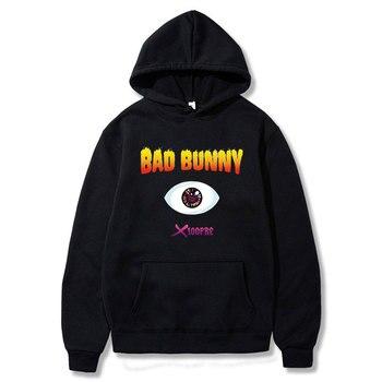 New Hot Sale Bad Bunny Hoodies Sweatshirts Men/women Kpop Oversized Hoody Autumn Winter Harajuku Tracksuits Mens Casual Hoodie