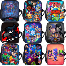Brawling Stars Messenger Bag Smash Bros Boys Girl Crossbody Bags Leon Spike Children School Bags Kids Bookbag Small Shoulder Bag