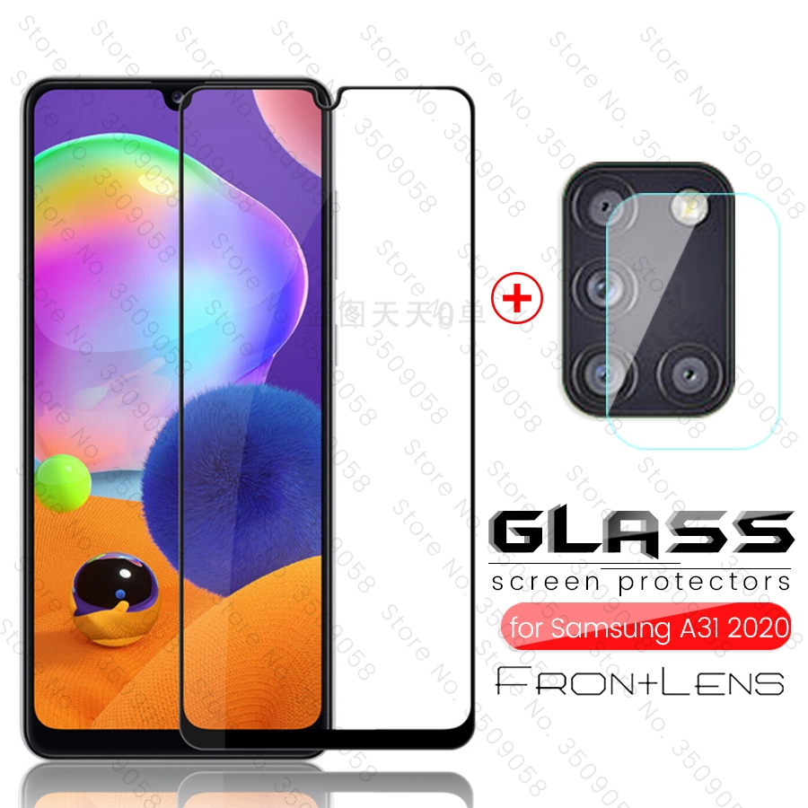 2-in-1 For Samsung Galaxy A31 2020 Glass Camera Glass Samung Gelaxi A 31 Sm-a315f/ds 6.4'' Protective Toughened Film 9h Steklo
