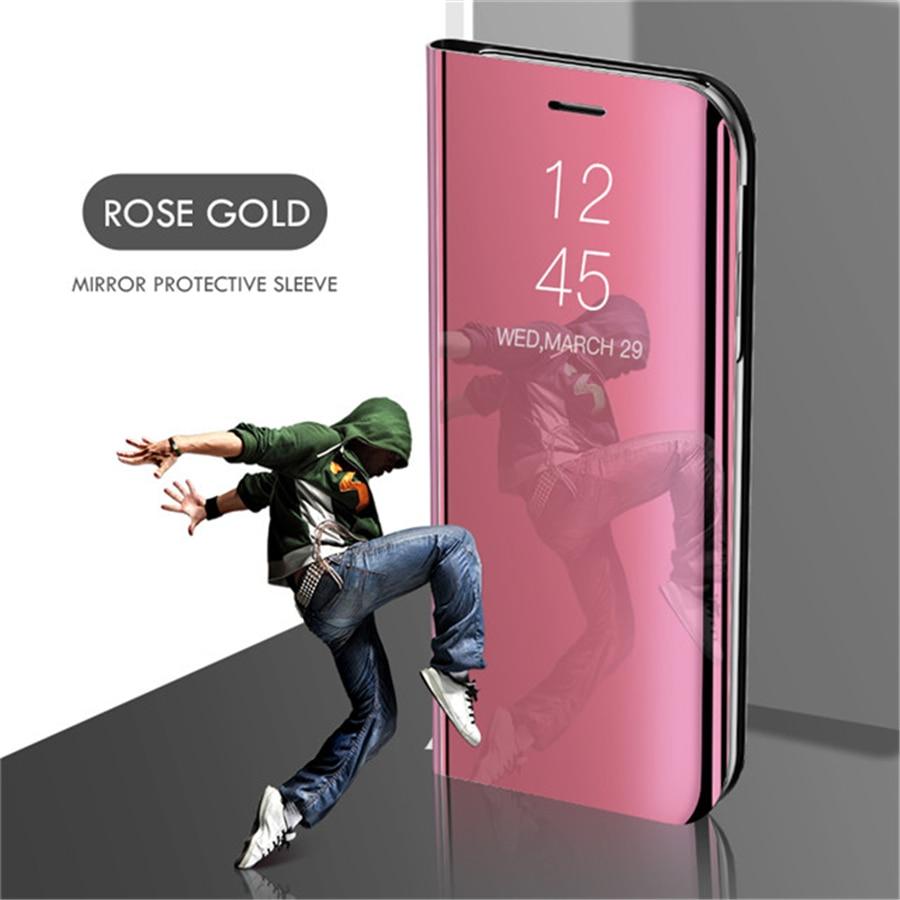 Smart mi rror чехол для телефона для Xiao mi Red mi Note 8 7 K20 5 6 iPad Pro 4 4X 8A 6 6A 7A Plus mi 9 SE 9T 8 Lite A1 A2 A3 5X 6X mi x 2 крышка - Цвет: Rose Gold
