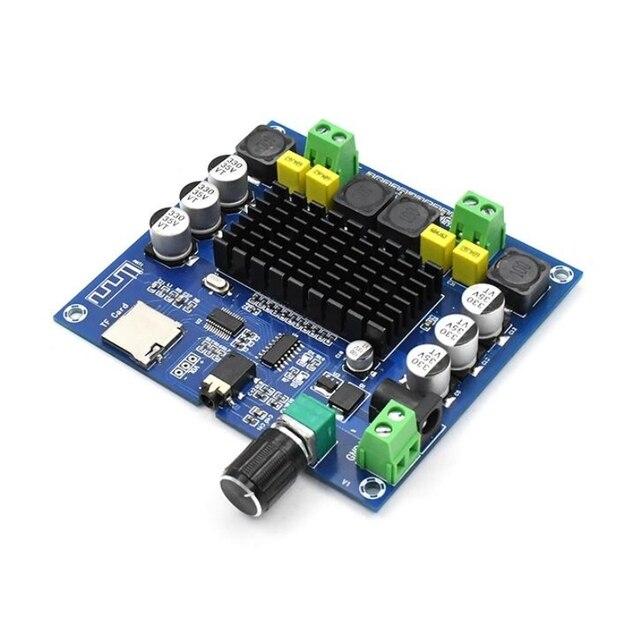 XH A314 บลูทูธ 5.0 TPA3116 50W + 50W เครื่องขยายเสียงดิจิตอลสเตอริโอ AMP โมดูลรองรับ TF Card AUX โฮมเธียเตอร์