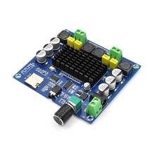 XH A314 Bluetooth 5.0 TPA3116 50W + 50W karta do cyfrowego wzmacniacza mocy moduł wzmacniacza Audio Stereo obsługa karty TF AUX kino domowe