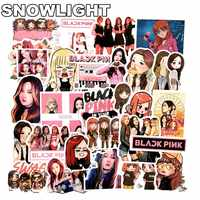 54 Uds creativo Kpop Blackpink Lisa PVC pegatina para álbum DIY pegatina para maleta para Fans colección Blackpink Girls Kpop
