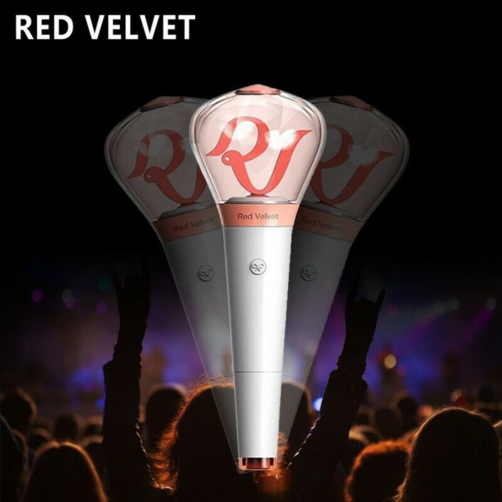 Compact Size LED Red Velvet Kpop Stick Lamp Hiphop Lightstick Official Concert Lamp fluorescent stick aid rod Official