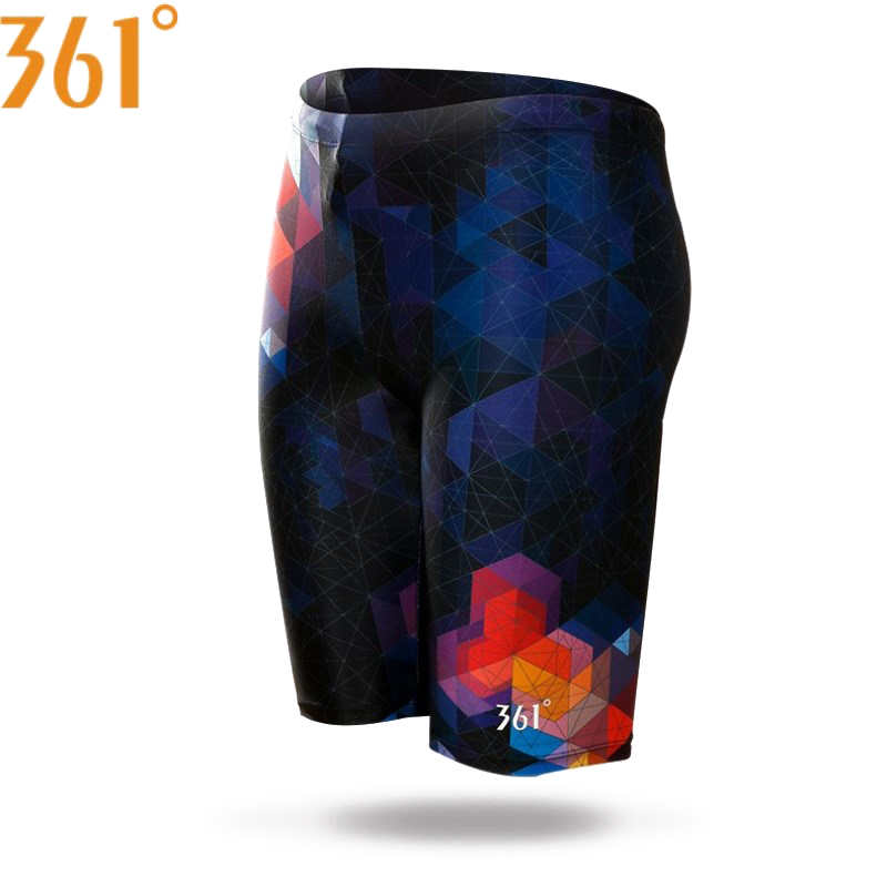 361 Men Swimwear Tight Swim Trunks Plus Size Quick Dry Swimming Shorts Mens Swimsuit Boys Beach Shorts Swimming Trunks Pants