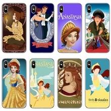 Anastasia Princesa y Dimitri para iPhone 11 pro XR X XS X Max 8 7 6 6s plus SE 5S 5c funda para iPod Touch 5 6