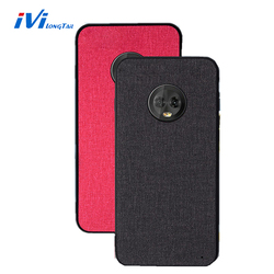 На Алиэкспресс купить чехол для смартфона ivilongtail ultra-thin fabric cloth texture case for motorola moto one g6 g6plus g6play p30play e6 g7power phone protective case