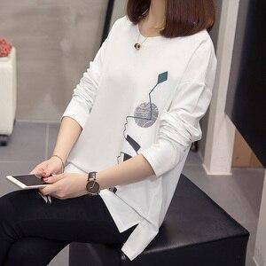Image 3 - Nkandby T shirts pour femmes, vêtements amples, graphiques, imprimés, surdimensionnés, à manches longues, coréen, grande taille, automne