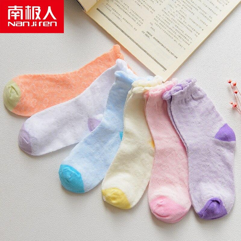 nanjiren criancas meias de malha buraco colorido 01