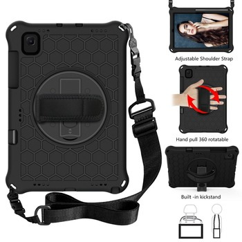 """For Samsung Galaxy Tab S5E 2019 SM-T720 T725 Case S5 E 10.5"""" Pencil Holder Bags Funda Tablet Stand Shell & Neck Strap Kids Coque"""