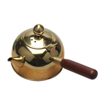 Botique-500Ml Single Handle Water Kettle Induction Turk Samll Coffee Milk Tea Pot 304 Stainless Steel Outdoor Water Boiler Drink 1