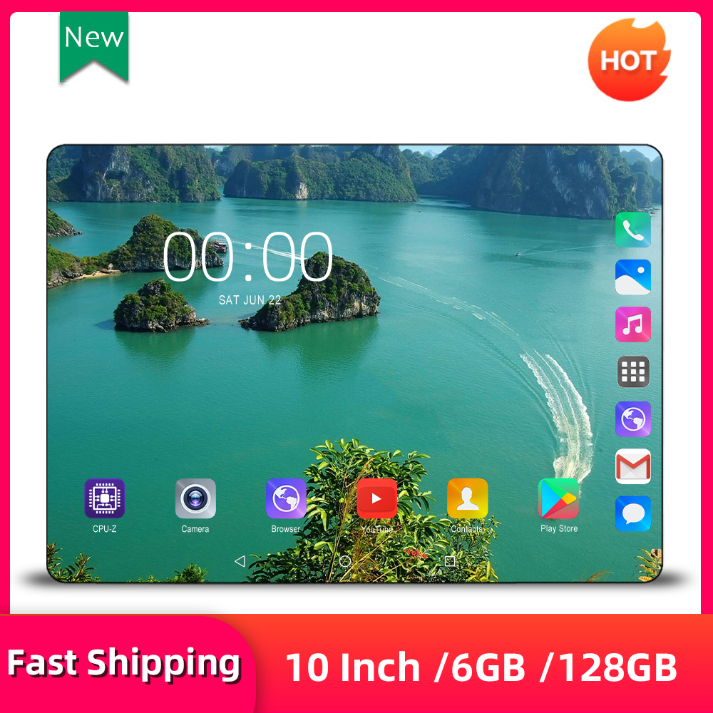 Mx960 Tablet 10 Inch 4G LTE Phone Call Dual SIM Card Android 9.0 Tablet Pc 6GB/128GB Tab Octa Core 1280*800 IPS Pc Tablets 10.1