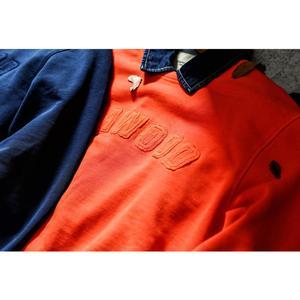 Image 3 - SIMWOOD 100% coton patchwork sweat shirt imprimé lettre hommes casual pull sweat mode survêtement grande taille à capuche 190465