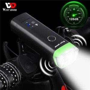 Image 1 - Ouest vélo avant vélo lumière LED Rechargeable par USB vélo lumière étanche cyclisme phare escalade sécurité lampe de poche lampes
