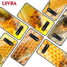 Golden Honeycomb Honey for Samsung Galaxy Note 10 9 8 Pro S10e S10 5G S9 S8 S7 Plus Super Bright Glossy Phone Case Cover цена 2017