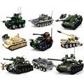 2021 новые комплекты военного танка ww2 Германия США T34 модель строительные блоки наборы армия мировая война 2 1 i ii бронированный автомобиль panzer