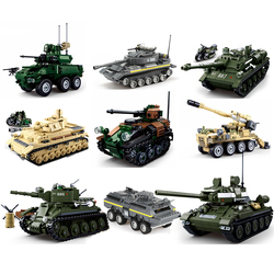 Military tank sets ww2 germany us T34 building blocks army world war 2 1 i ii panzer armored not legoeds but size compatible