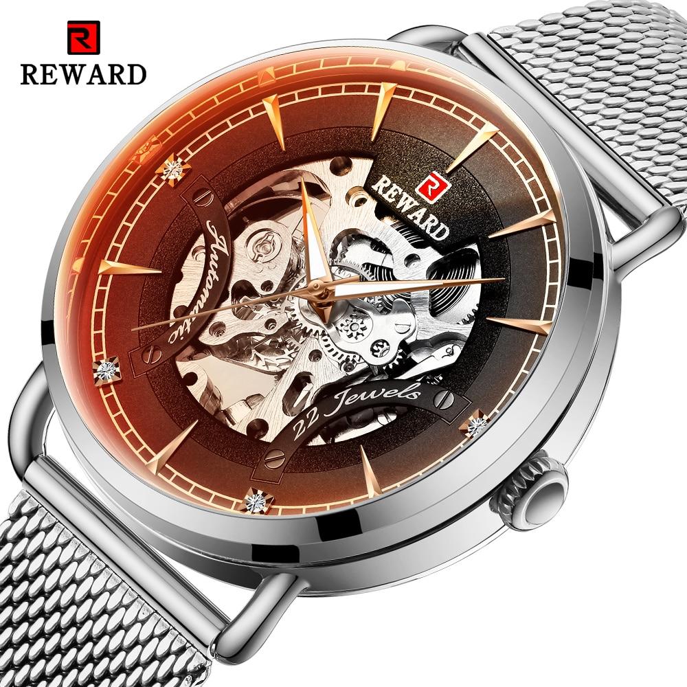 REWARD Male Watches Men Automatic Mechanical Watch Top Brand Luxury Full Steel Waterproof Mechanical-Watch Relogio Masculino