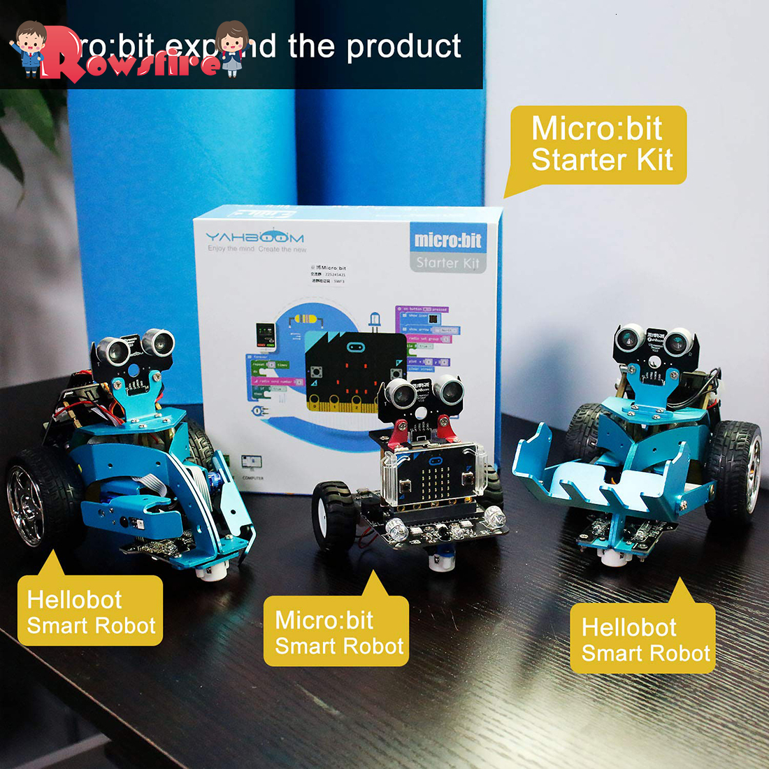 2019 New Graphical Programmable Robot Car With Bluetooth Ir And Tracking Module Stem Steam Robot Car Toy For Micro:bit Bbc