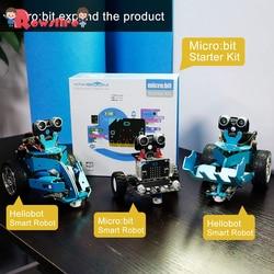 2019 neue Grafische Programmierbare Roboter Auto Mit Bluetooth Ir Und Tracking Modul Stem Dampf Roboter Auto Spielzeug Für Micro: bit Bbc