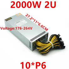 New PSU For Chain Force Cannon 851 Industrial Control Power Supply Single 12V 10*6P 2U 2000W Power Supply LL2000MINI