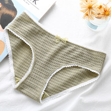 3PCS Breathable cotton briefs underwear panties for woman girl panty Comfort casual(China)