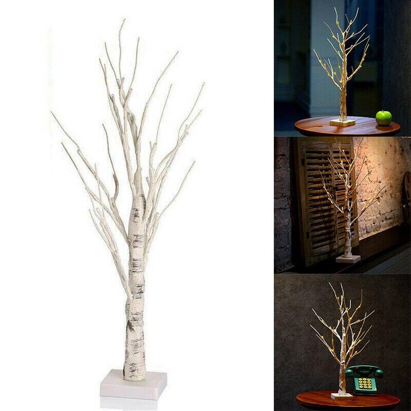 Новое Белое пасхальное дерево 60 см с подсветкой, декоративные пасхальные яйца для подвешивания украшений