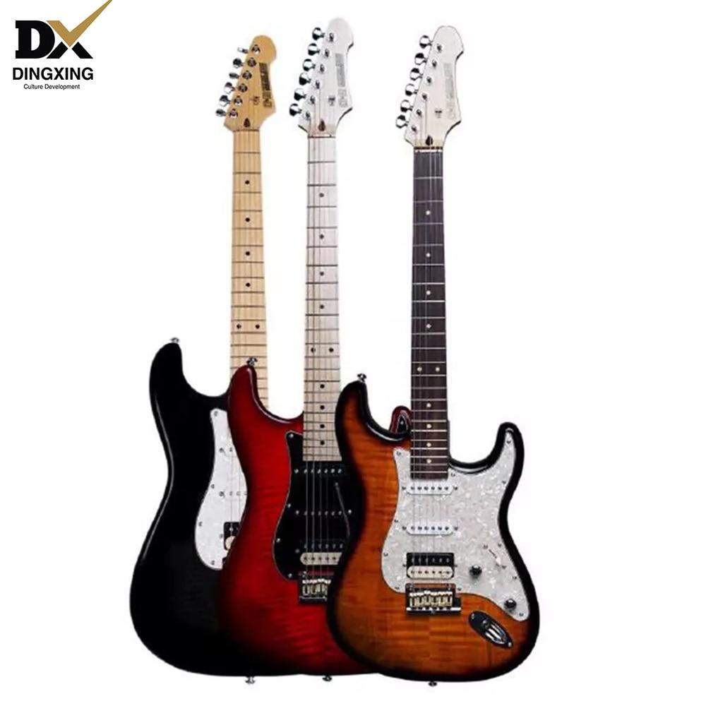 Электрогитара st standard Deluxe с пламенем музыкальные Струнные инструменты гитарные части и аксессуары oem хорошая гитара ras stratocaster