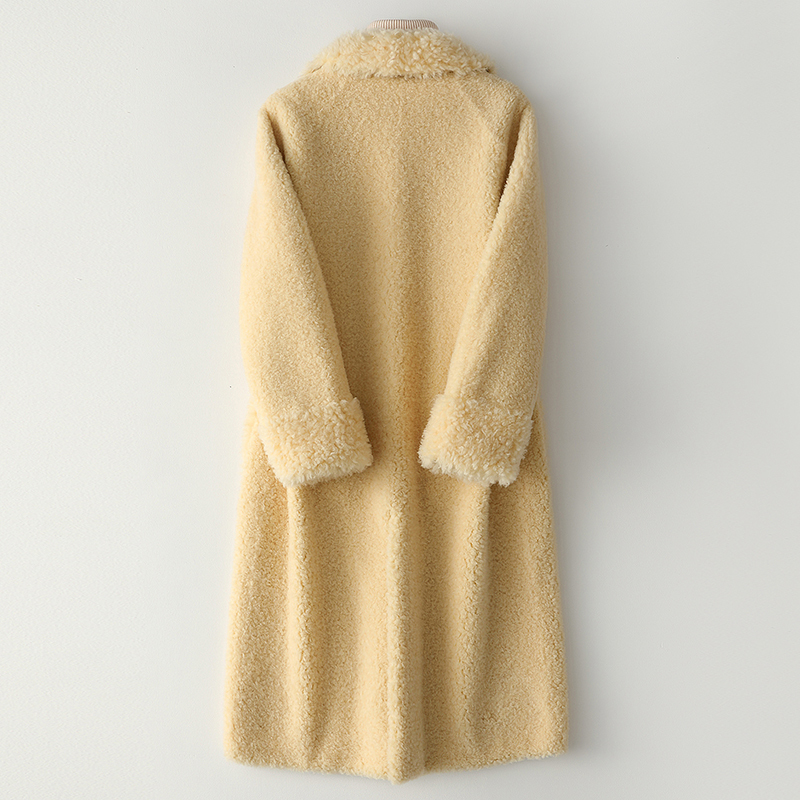 Sheep Real Shearling Fur Coat Winter Jacket Women Clothes 2020 Wool Coats And Jackets Women Korean Long Jacket MY4115 S S