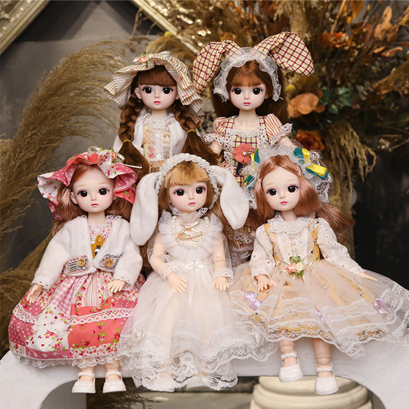 30cm Lolita Dress BJD Doll 18 Ball Joints Dolls With Full Outfits Girl Princess Make up Girls DIY BJD Toys Best Gifts Collection