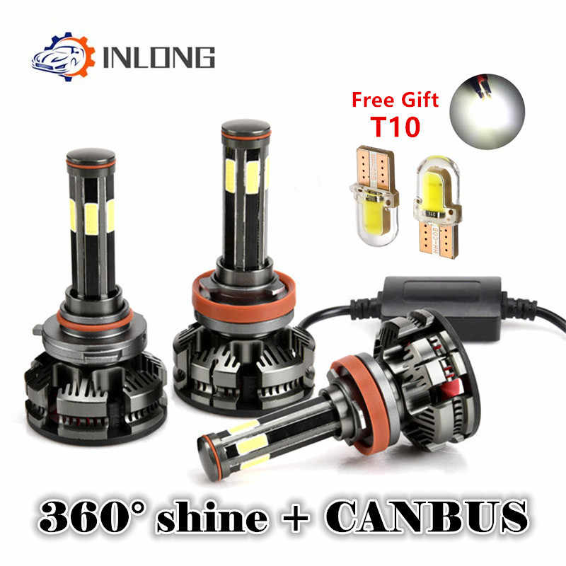 INLONG H4 H7 led Canbus No Error H11 Led Lamp H8 H9 9005 hb4 9006 hb3 Auto Car Headlight Bulbs 20000LM Car Fog Lights Automotivo