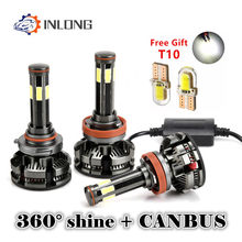 New Arrival H4 H7 led Canbus No Error H11 Led Lamp H8 9005 hb4 9006 hb3 Auto Car Headlight Bulb 20000LM Car Fog Light Automotivo(China)