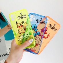 Cover For VIVO S6 IQOO NEO X27 X30 Z6 IQOO NEO3 Fashion Fluorescent color Cartoon Pokemon Clear TPU Soft Phone Cases plating tpu phone case for vivo x30 x30 pro soft silicone upscale phone cases mobile phone accessories