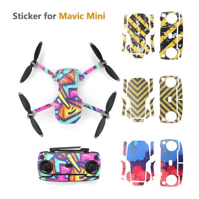 Sticker Film For DJI Mavic Mini Colorful Graffiti Skin Wrap Protector for Drone Body Arm Remote Control for Mavic Mini accessory