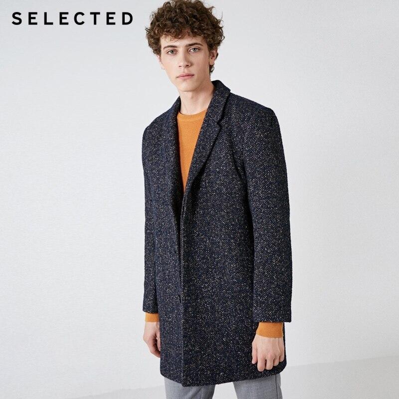 SELECTED New Winter Wool Coat Men's Business Casual Woolen Jacket S | 418427541