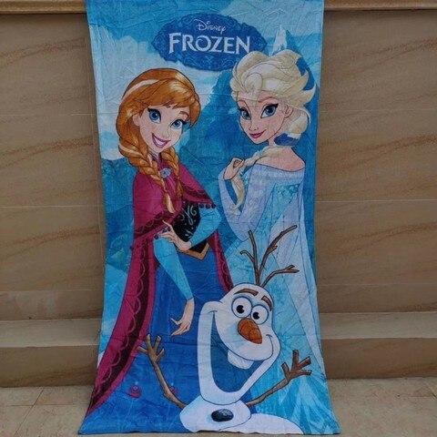 disney congelado banho toalhas de praia elas anna princesa algodao meninas criancas adolescentes 70x140cm toalha