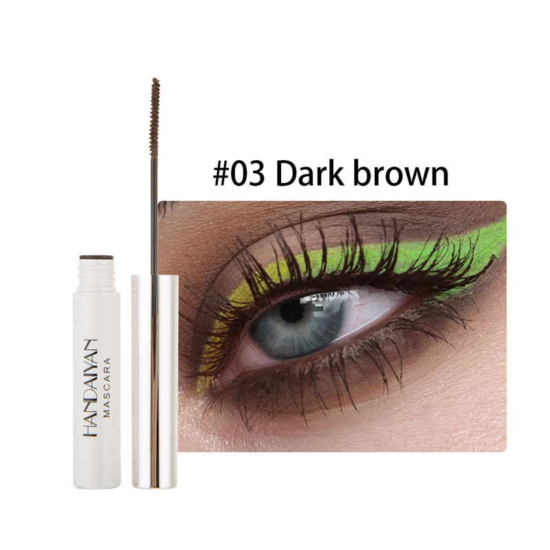 Цветная тушь водостойкие ресницы, Подкручивающая, удлиняющая, густой объем, макияж, ресницы для глаз, быстро сохнут, стойкий макияж для красоты - Цвет: 3