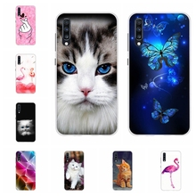 For Samsung Galaxy A10 A40 Case Soft TPU A20 A30 Cover Butterflies Patterned A50 A70 Coque