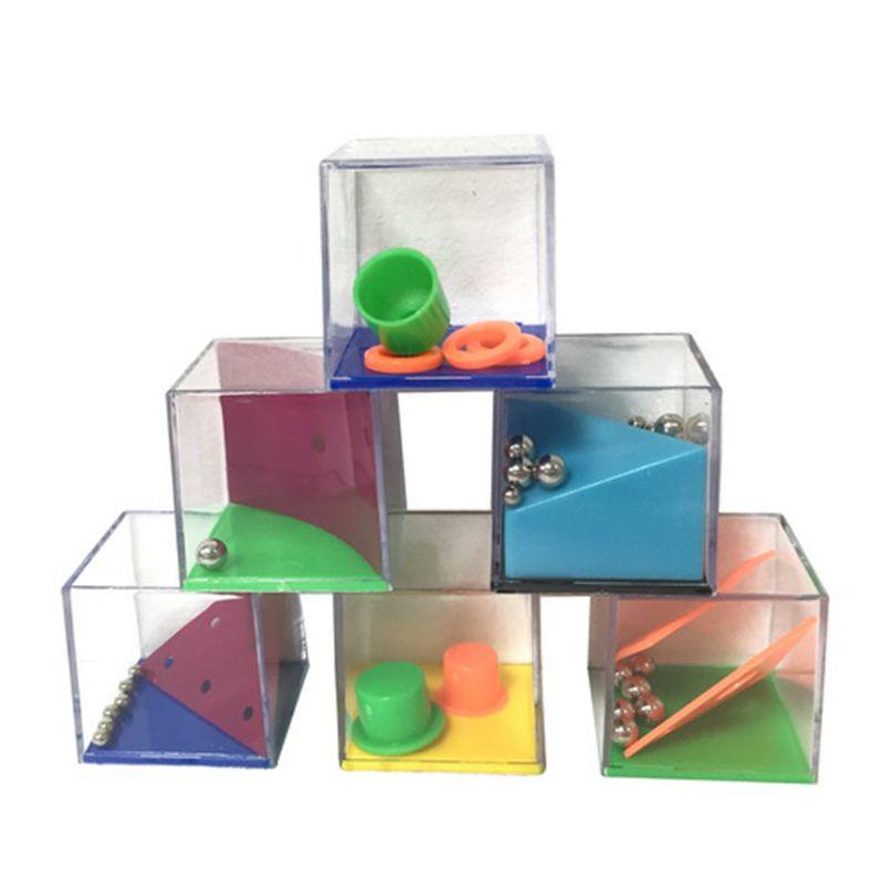 24Pcs Decompression Puzzle Toy Gravity Balance Bead Set Mini Labyrinth Cube Game