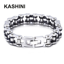 Bangles  Friendship Stainless Jewelry Gift Men Bracelet Rock Punk Biker Bicycle Bike