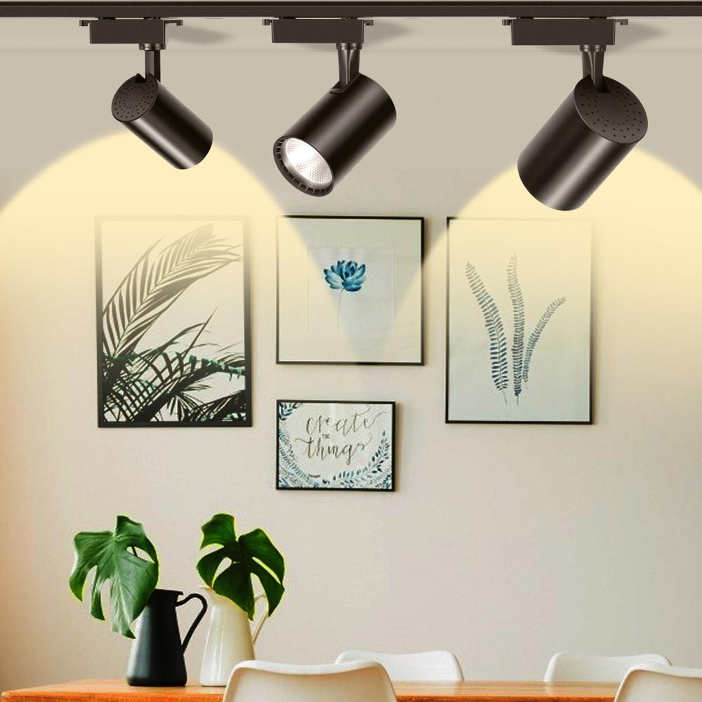 12W 20W 30W COB LED Track Light Led Rail Lamp Led Spotlight Clothing Shop Window Lighting Light Bulb Cold White  Warm White